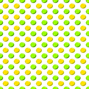 Lemon Lime Dot on white