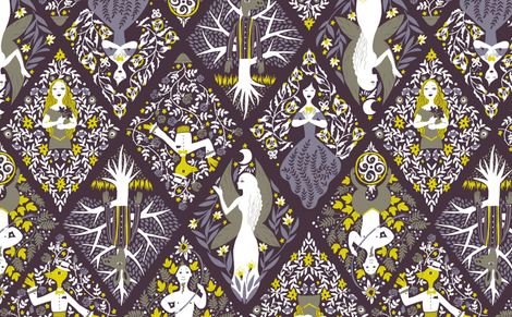 Inspired by Shakespeare fabric by reikahunt on Spoonflower - custom fabric