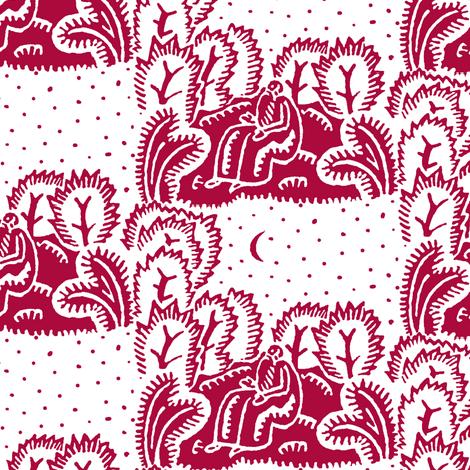 stargazer red fabric by keweenawchris on Spoonflower - custom fabric