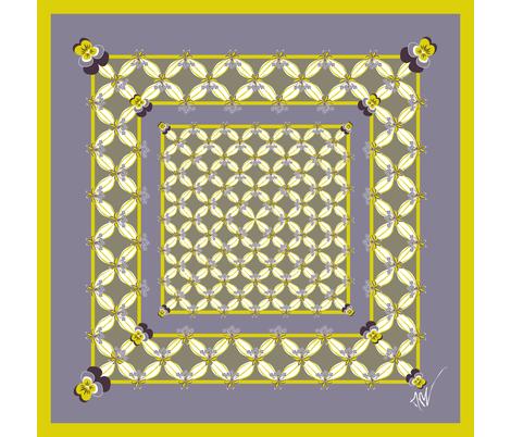 Midsummer Night's scarf fabric by moirarae on Spoonflower - custom fabric