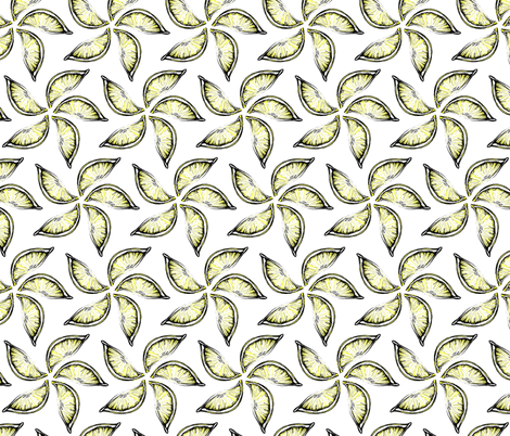 Lemon Wedges  fabric by pond_ripple on Spoonflower - custom fabric