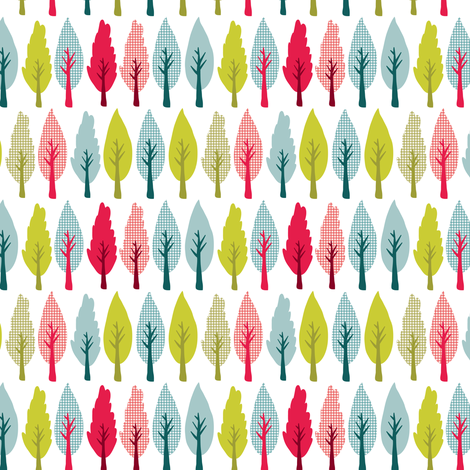 Market trees fabric by ebygomm on Spoonflower - custom fabric