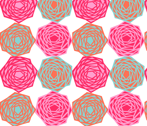 angular rose fabric by melbity on Spoonflower - custom fabric