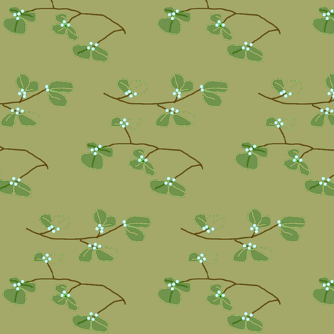 Mistletoe fabric by ravynscache on Spoonflower - custom fabric