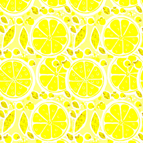 lemon delight fabric by dk_designs on Spoonflower - custom fabric