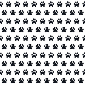 dog paw black and white silhouette