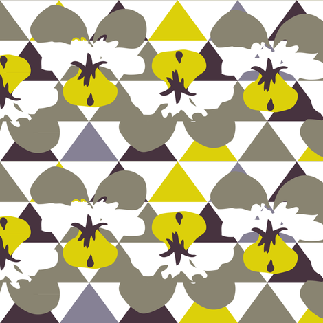 Love Triangle fabric by owlandchickadee on Spoonflower - custom fabric
