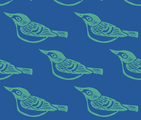 Vireo - Request fabric by owlandchickadee on Spoonflower - custom fabric