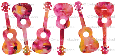Ukulele Watercolor - Rose