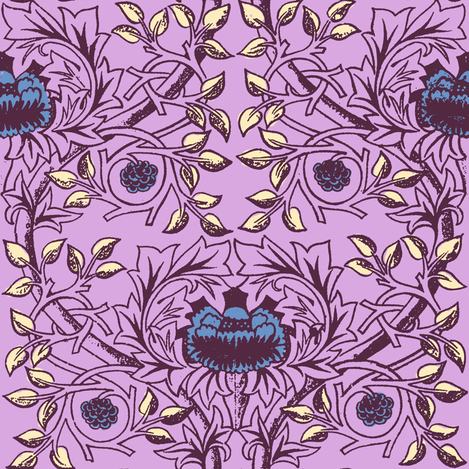William Morris Trellis ~ Twilight II fabric by peacoquettedesigns on Spoonflower - custom fabric