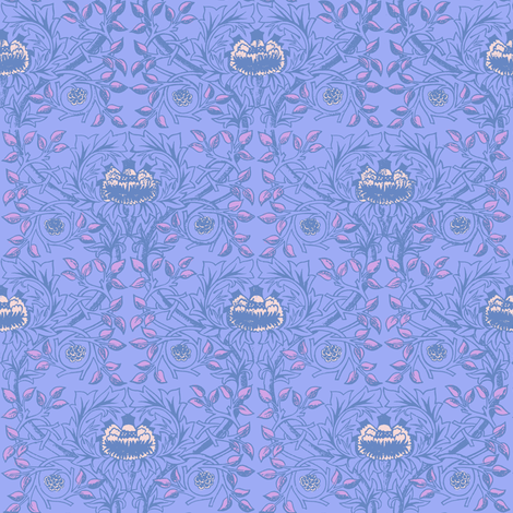William Morris Trellis ~ Twilight fabric by peacoquettedesigns on Spoonflower - custom fabric