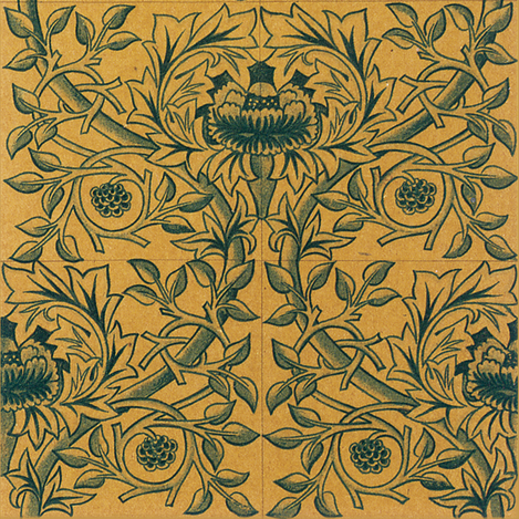 William Morris Trellis Tiles fabric by peacoquettedesigns on Spoonflower - custom fabric