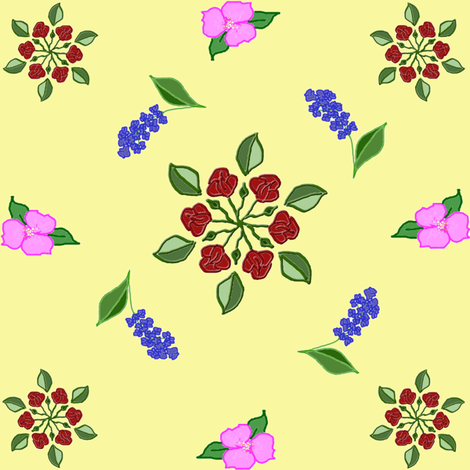 Flower Quilt fabric by ravynscache on Spoonflower - custom fabric