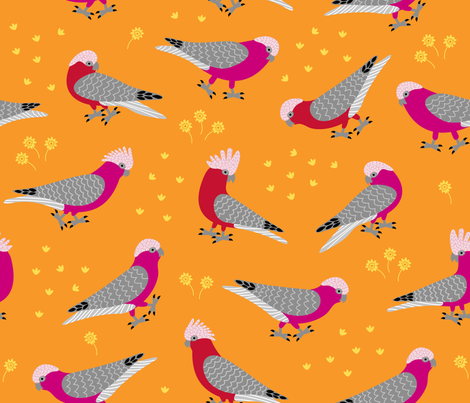 Gallahs fabric by yellowstudio on Spoonflower - custom fabric