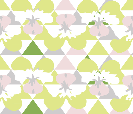 Love Triangle 8 fabric by owlandchickadee on Spoonflower - custom fabric