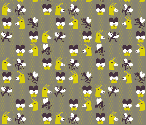 Love-in-idleness, fairies, and donkey heads fabric by mongiesama on Spoonflower - custom fabric