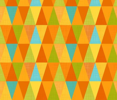 citrus triangles fabric by cjldesigns on Spoonflower - custom fabric