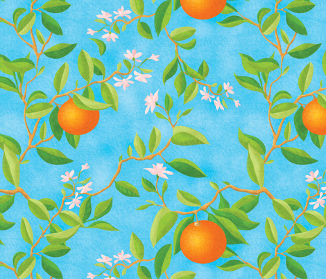 Orange  fabric by cutepatterns on Spoonflower - custom fabric