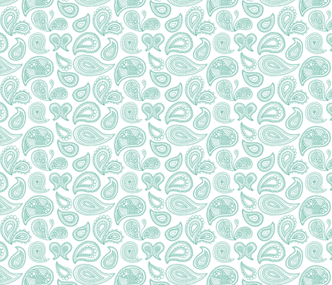 Paisley_mint_inverted fabric by jennifer_clarke_designs on Spoonflower - custom fabric
