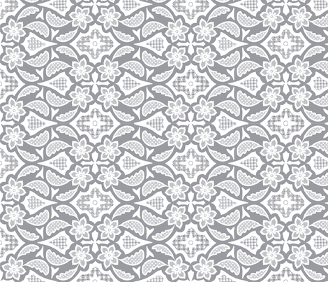 Lace_dusty_grey fabric by jennifer_clarke_designs on Spoonflower - custom fabric