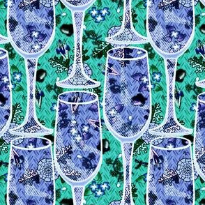 a toast in blue