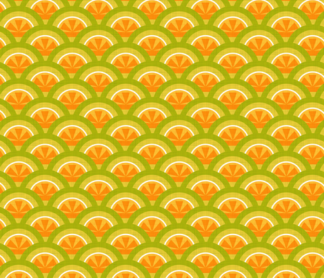 citrus scallop fabric by cjldesigns on Spoonflower - custom fabric