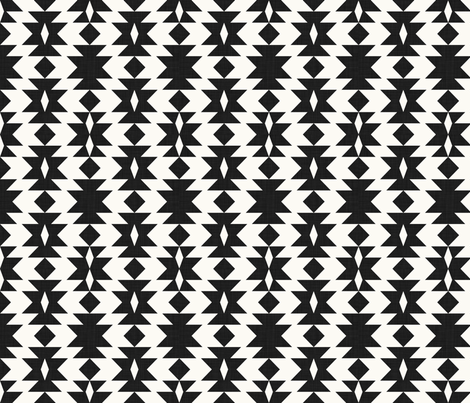 tribal_black_and_white fabric by holli_zollinger on Spoonflower - custom fabric