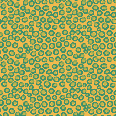 Mustard Circles fabric by woodle_doo on Spoonflower - custom fabric