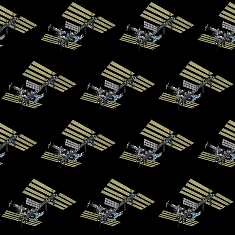 International space station fabric silicon cowgirl for Space station fabric