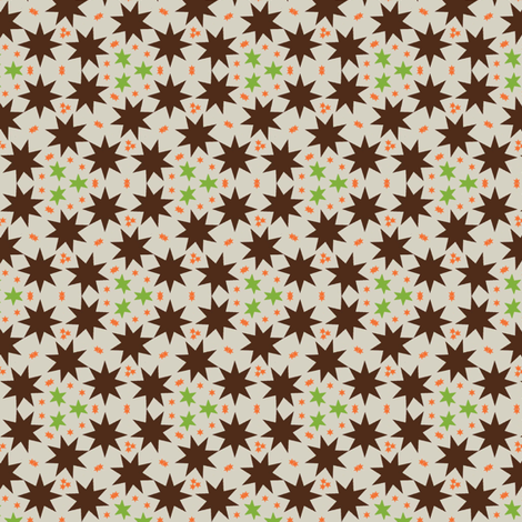 african stars fabric by susiprint on Spoonflower - custom fabric