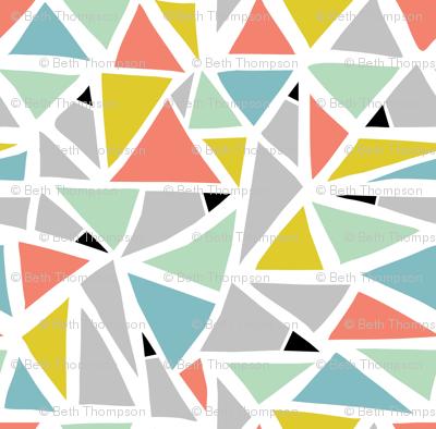 Hand Drawn Triangles wallpaper - beththompsonart - Spoonflower