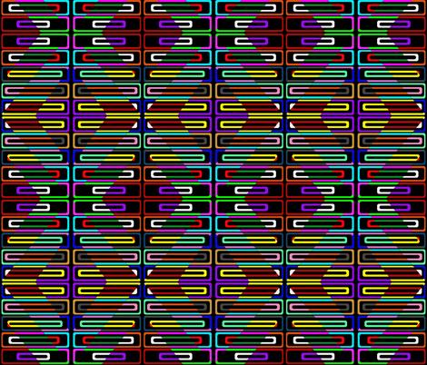 Geo  fabric by retroretro on Spoonflower - custom fabric