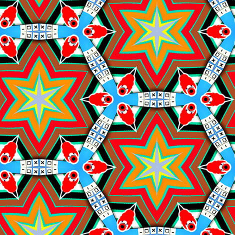 geek stars fabric by susiprint on Spoonflower - custom fabric