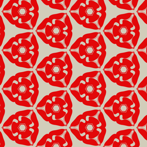 red flower fabric by sydama on Spoonflower - custom fabric