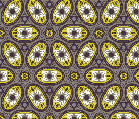 Flowerish repeat fabric by lilichi on Spoonflower - custom fabric