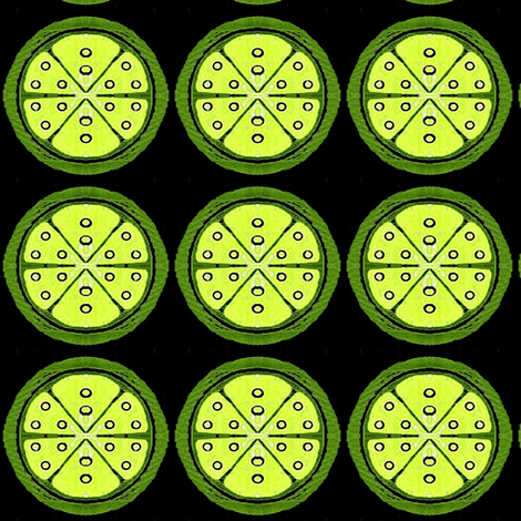 limes fabric by dk_designs on Spoonflower - custom fabric