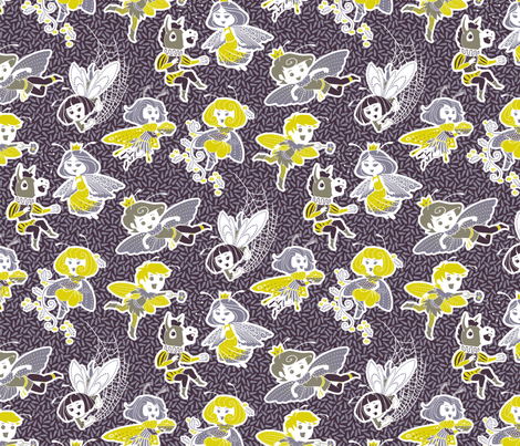 Nick and the Fairies fabric by siya on Spoonflower - custom fabric