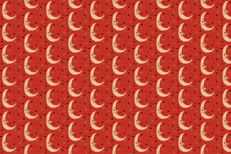 Atomic Halloween - Crescent Moon fabric by heidikenney on Spoonflower - custom fabric