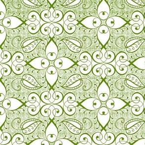 Lattice, green on white