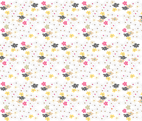 SOOBLOO_FLOWERS_366B-1-01 fabric by soobloo on Spoonflower - custom fabric