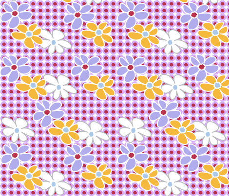 SOOBLOO_FLOWERS_357Y-1-01 fabric by soobloo on Spoonflower - custom fabric