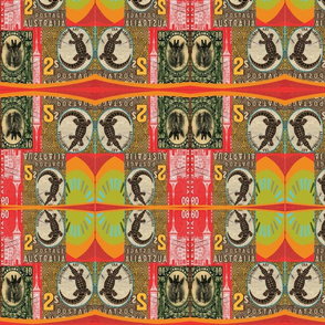 african print postage stamps