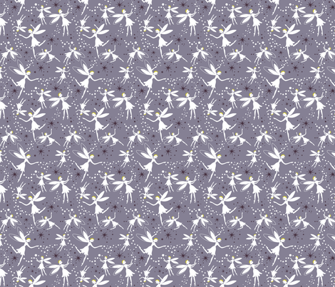 Midsummer_fairies_LtPurple2 fabric by robinpickens on Spoonflower - custom fabric