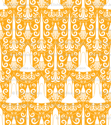 Rocket Science Damask (Light Orange)