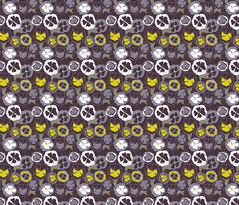 Love-in-Idleness fabric by meg56003 on Spoonflower - custom fabric