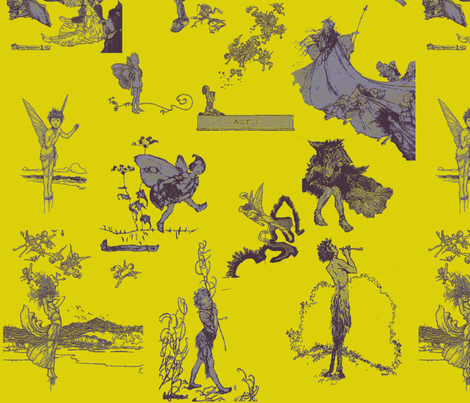 RackhamMidSummer-ok fabric by twilfley on Spoonflower - custom fabric