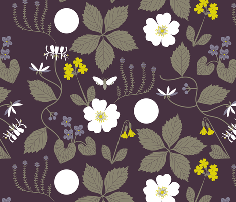 Midsummer Night's Dream Botanical fabric by jenimp on Spoonflower - custom fabric