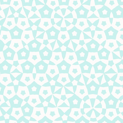 quasicrystal stars (ice blue) fabric by weavingmajor on Spoonflower - custom fabric