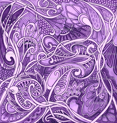 Undulating Purple Fantasy World