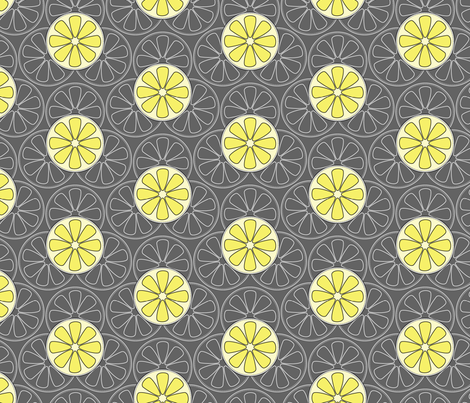 Lemons fabric by happyprintsshop on Spoonflower - custom fabric
